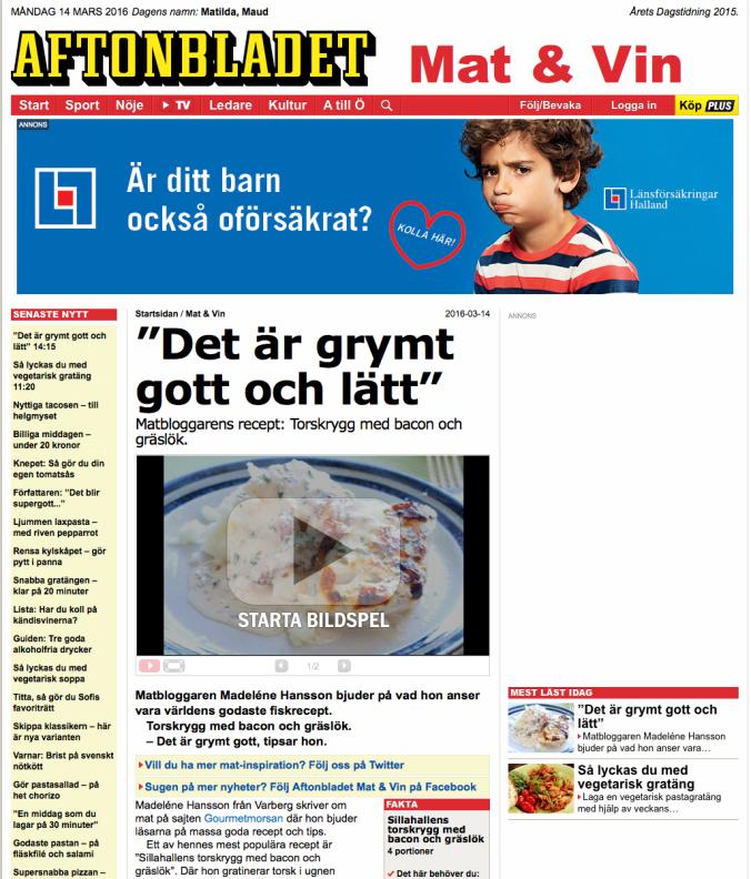 160314 Aftonbladet